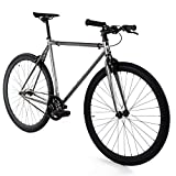 Golden Cycles Single Speed Fixed Gear Bike with Front & Rear...