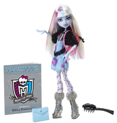 Mattel Monster High Y8498 - Abbey Bominable, Puppe mit Jahrbuch