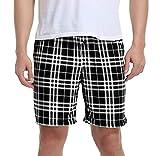 Vlazom Pantalones de Pijama para Hombre, Cómodos Pantalones Cortos, Suaves Pantalones para Dormir con Bolsillos y Cordón