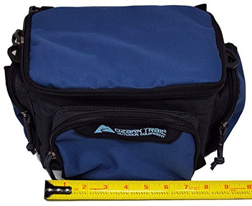 Ozark Trail Blue Soft-Sided Fishing Tackle Storage Bag with 3 Utility Boxes 11x7x6.25