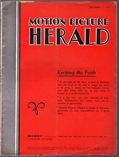 Motion Picture Herald 12/25/1954-Quigley Pub Co-movie info, ads and reviews-VG