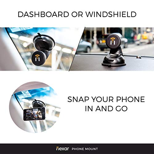 Car Phone Mount - Cell Phone Holder for Your iPhone | Recommended for The Nexar Dash-cam App