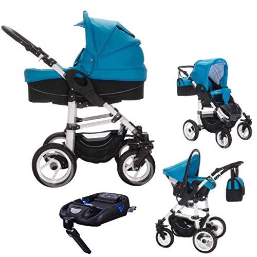 Bebebi Paris | 4 in 1 Kinderwagen Komplettset | ISOFIX Basis & Autositz | Farbe: Louvre