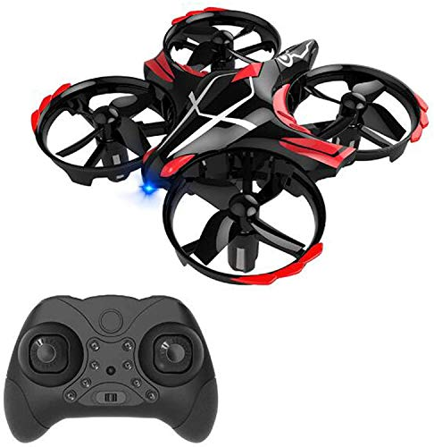 Mini Drone for Kids, 2 in 1 Remote + Gesture Control Helicopter RC Plane, 3D Flips, LED Lights, Altitude Hold, Headless Mode, Gift for Boy Girl Birthday,Black