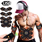 BLUE LOVE Abs Stimulator Abdominal Muscle,EMS ABS Trainer Body Toning Fitness,USB Rechargeable Toning Belt ABS Fit Weight Muscle Toner Workout Machine for Men & Women