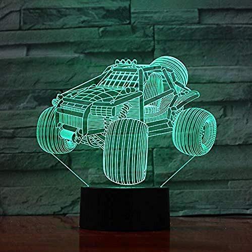 3D Luz De Noche Led visual Ilusión óptica Luz de noche para Niños Tobogán de playa todoterreno de dunas mejor regalo de para niños y niñas Con interfaz USB, cambio de color colorido