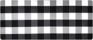 USTIDE Retro Laundry Room Rug Black&White Buffalo Check Laundry Room Mat Nonskid Rubber Backed Waterproof Kitchen Rug 2x4