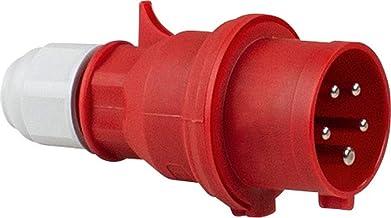 as - Schwabe as 61420 Bals CEE-stekker 400V/16A, rood, met schroefaansluiting, 400 V