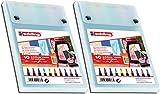 edding 1340 Brushpen - Rotuladores con punta variable, 10 unidades, colores surtidos (2 paquetes)