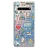 dakanna Funda para [Samsung Galaxy S10 Plus (S10+)] Dibujo: Simbolos Medicina Enfermera Ambulancia Corazón Hospital, Carcasa de Gel Silicona Flexible [Fondo Transparente]