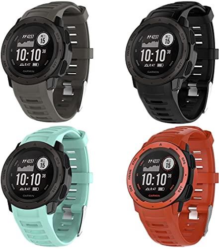 Gransho Correa de Reloj Compatible con Garmin Instinct Solar Surf/Camo/Tactical/Esports Edition, Silicona...