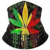 Setlla Love Halswärmer Gamasche, Reggae Rasta Marihuana Leaf Weed Motorrad Gesichtsmaske Coverkeep Warm