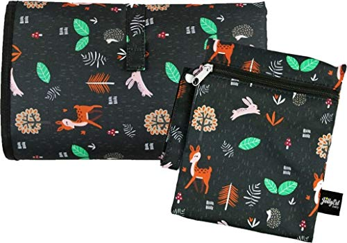 Foldable Travel Changing Mat | Extra Large 70cm x 55cm, Padded, Free Wet-Dry Bag