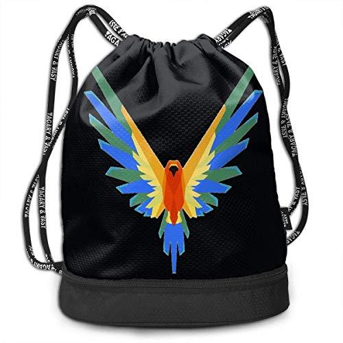Harla Mochila con cordón Bolsa Sport Gym Bag - Mochila Escolar para Hombres, Mujeres y niños, Logan Paul
