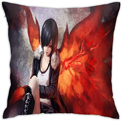 AOOEDM Tokyo Ghoul Decorative Throw Pillow Covers for Sofa Couch Cushion Pillow Cases 18x18 Inch,2