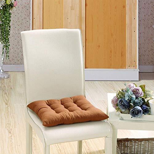 WTMLK Solid color seat cushion soft and comfortable chair cushion square floor mat tatami cushion Garden chair cushion, 4,40x40cm 1Piece