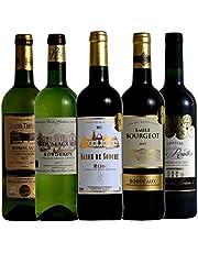 ソムリエ厳選 ボルドー 金賞受賞酒 飲み比べ 赤ワイン 白ワイン 5本セット 750ml×5 …