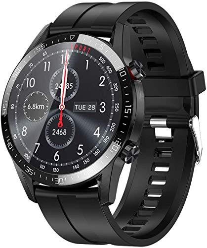 jpantech Smartwatch Reloj Inteligente Mujer Hombre | Llamadas Bluetooth |Pantalla táctil Completa | Monitor de ECG | monitoreo de la frecuencia cardíaca medición de la presión Arterial(Negro)