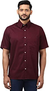 Colorplus Half Sleeve Regular Collar Dark Violet Shirts
