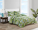 Tommy Bahama | Aregada Dock Collection | Quilt Set-100% Cotton, Reversible, Lightweight & Breathable Bedding with Matching Shams, Pre-Washed for Added Softness, King, Sky