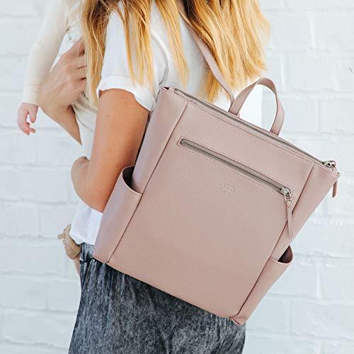 Freshly Picked - Mini Minimal Diaper Bag Backpack - Large Internal Storage 9 Pockets Wipeable Vegan Leather
