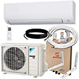 DAIKIN 12,000 BTU 19 SEER Wall-Mounted Ductless Mini-Split A/C Heat Pump System Maxwell 15-ft Installation Kit (230V) 12 Year Limited Warranty (12,000 BTU_208-230V)