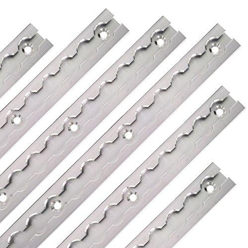 LABT Aluminium Airlineschienen Set eckige Form versenkbar 3 Meter = 2 x 1,5 Meter - Eckige Airlineschiene zur Ladungssicherung für LKWs und Wohnmobile - Gebohrte Zurrschiene Silber - Zurrleiste