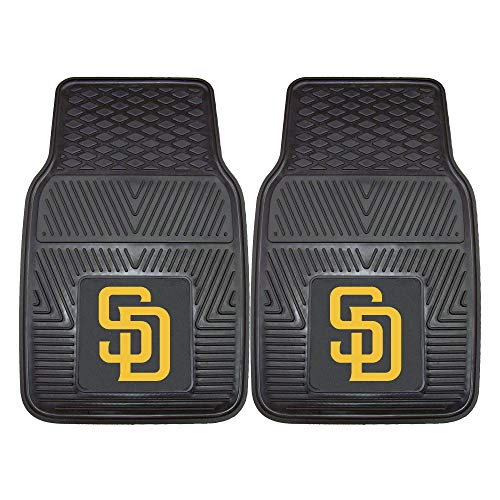Fanmats 8847 MLB-San Diego Padres Vinyl Universal Heavy Duty Fan Floor Mat,Black,18
