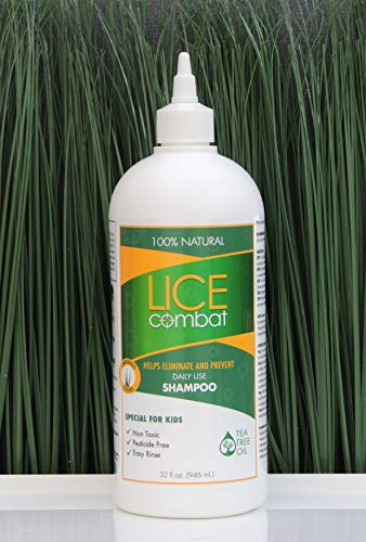 Lice Shampoo | Kills Lice, Super Lice & Nits | Repels & Prevents | Pesticide Free | 100% Natural | Tea Tree + Coconut Oil + Aloe Vera | Best Value | Smells Great.