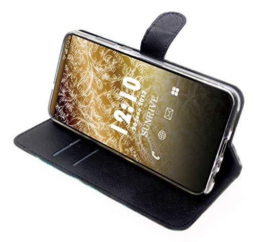 Sunrive Hülle Für Huawei Ascend G620s, Magnetisch Schaltfläche Ledertasche Schutzhülle Etui Leder Case Cover Handyhülle Tasche Schalen Lederhülle(Katze Tiger)