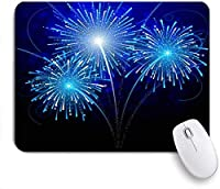 KAPANOUマウスパッド レイスカイスター花火の驚くべき複雑な花火の休日オブジェクト ゲーミング オフィス おしゃれ 良い 滑り止めゴム底 ゲーミングなど適用 マウス 用ノートブックコンピュータマウスマット