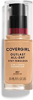 COVERGIRL Outlast All-Day Stay Fabulous 3-in-1 Foundation Golden Tan, 1 oz (packaging may vary)