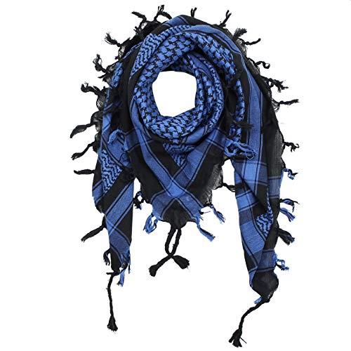 Superfreak Palituch - schwarz - blau - 100x100 cm - Pali Palästinenser Arafat Tuch - 100% Baumwolle