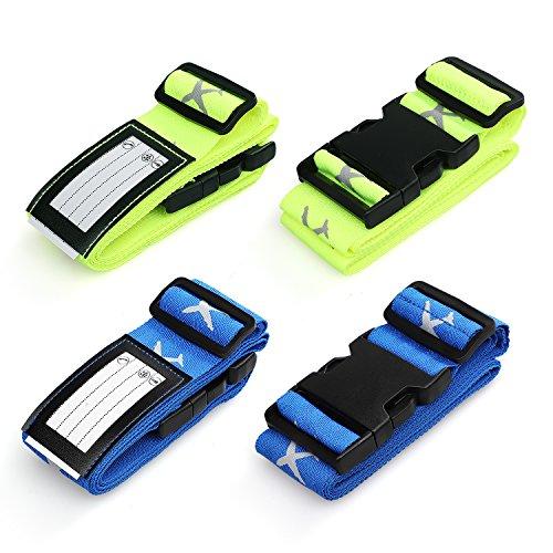 Swify 4 Stück Kofferband Koffergurt Gepäckgurt Kofferbänder der Koffer