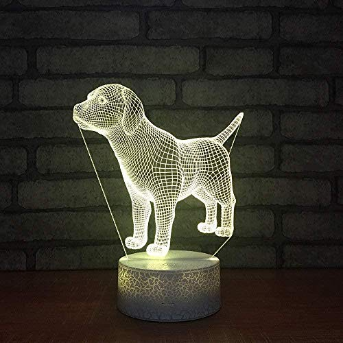 Puppy Designwholesale Fixtureswitch Cute Children 3D Illusion Lamp Suitable For Boys And Girls Bedroom Bar Living Room Birthday Christmas Gifts Usb Charging Touch Mode 7 Color Variations