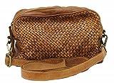 BZNA Bag Lucy cognac Italy Designer Clutch Braided Ledertasche Umhängetasche Damen Handtasche Schultertasche Tasche Leder Shopper Neu