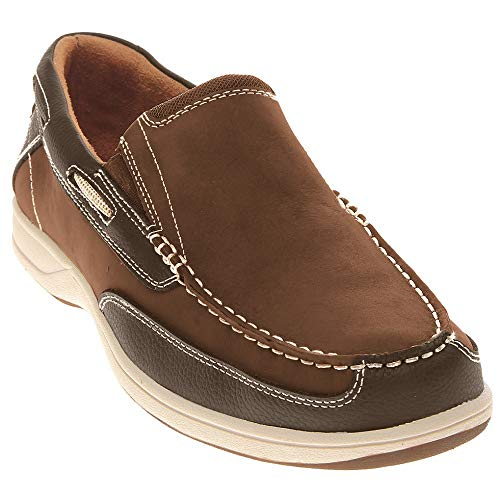 Florsheim Men's Lakeside Slip Boat Shoe, Brown, 9.5 M US