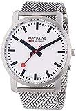 Mondaine SBB Simply Elegant 41mm A6383035016SBM Reloj de Pulsera Cuarzo Hombre Correa de Acero Inoxidable Plateado