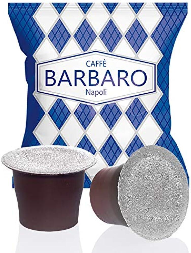 Caffe` barbaro,compatibile con nespresso,caffe` cremoso,miscela blu,100 capsule