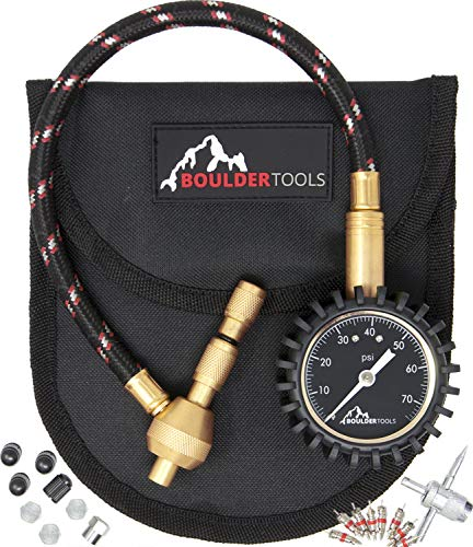 Boulder Tools All New Heavy Duty Rapid Tire Deflator Kit with Valve Caps, Valve Cores & 4-in-1 Tire Valve Tool