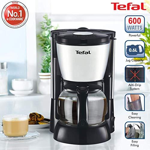 Tefal Plastic Apprecia 6-Cup Coffee Maker, 0.6 Liters, Metallic Grey