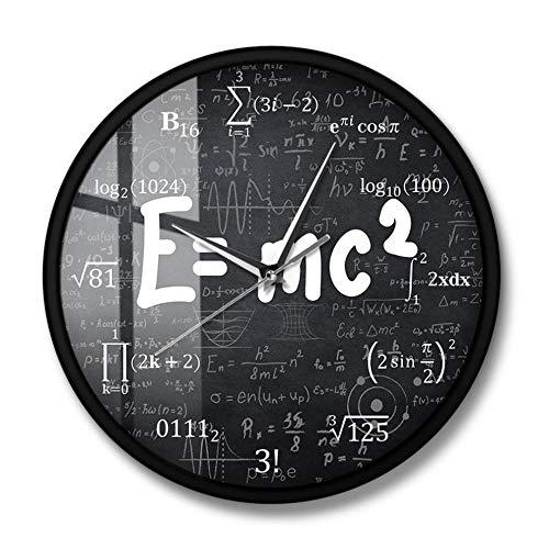 Reloj de Pared con fórmula matemática, Reloj de Pared silencioso, teoría de la relatividad, Regalo para Profesor de física científica, decoración para el Aula de la Escuela