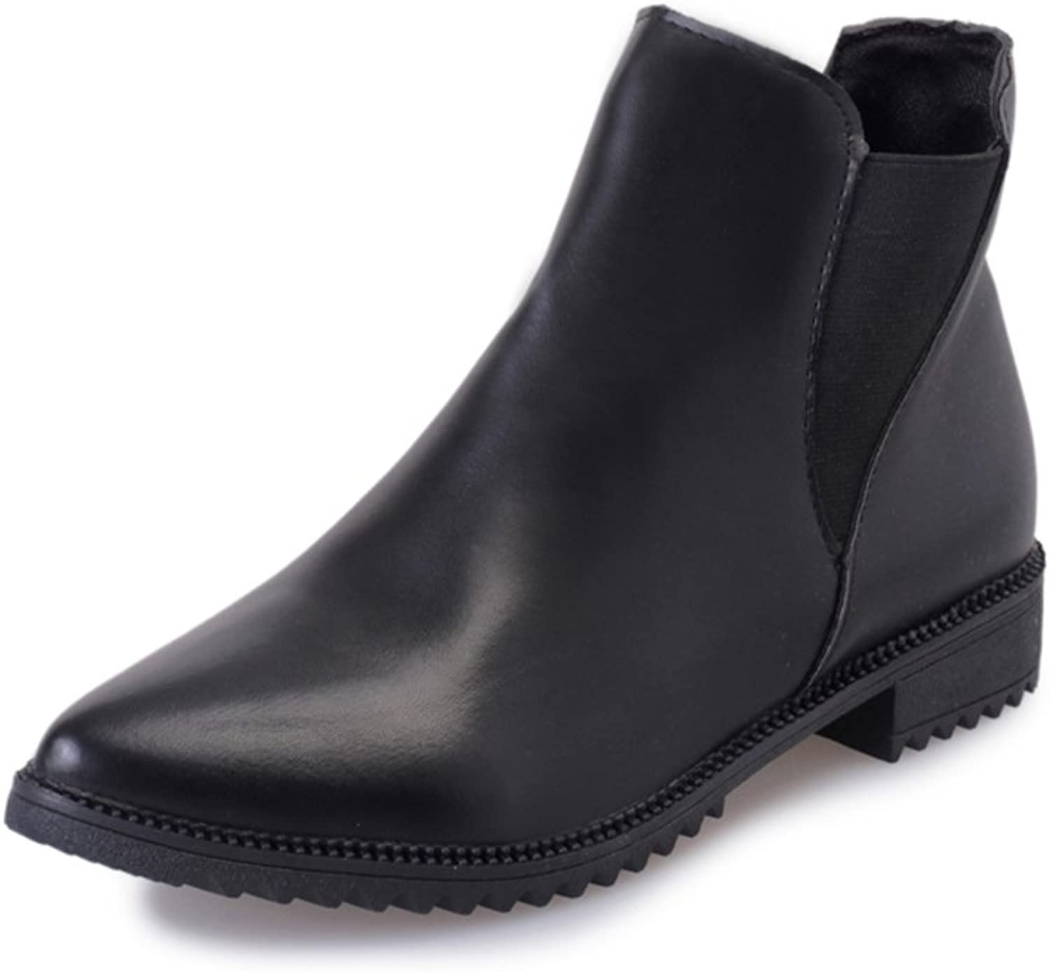 RHFDVGDS pointy boots Martin England wind boots Elastic simple nude in autumn and winter boots Joker low ladies boot