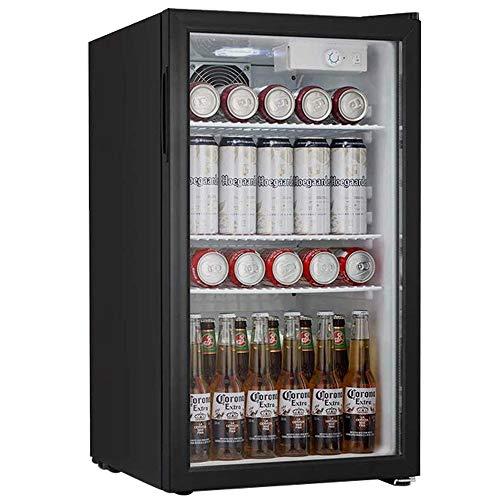 Beverage Cooler and Fridge With Glass Reversible Door Beverage Refrigerator 32 cubic feet