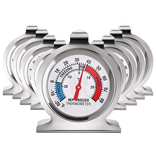 Camisin Lot de 9 thermomètres à grand cadran pour réfrigérateur congélateur