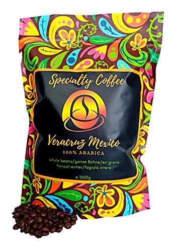 Spezialitätenkaffee aus Mexiko 1000g| Sortenreine Kaffeebohnen 100% Arabica| Langsame Crema Trommelröstung| Säurearm und ideal für Vollautomat| Frische Ernte| Ohne Zusatzstoffe