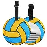 Volleyball-Ball Gepäckanhänger, rund, inspirierend, für Koffer, Handgepäck, Reisezubehör, Schwarz (Schwarz) - 4741035987756