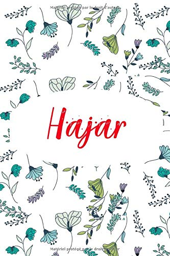 Hajar:  Carnet de note personnalisable, Cahier Notebook Agenda Bullet Journal, 120 pages lignées | Cadeau personnalisé pour Hajar | Cadeau anniversaire, saint valentin, fete des meres
