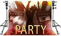 HD歌うダンスの背景歌うと踊る若いカーニバルパーティーの写真の背景歌とダンスミュージックパーティーの背景小道具7x5ftZYMT141