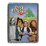 Warner Brothers Wizard of Oz, 'Group' Woven Tapestry Throw Blanket, 48' x 60', Multi Color
